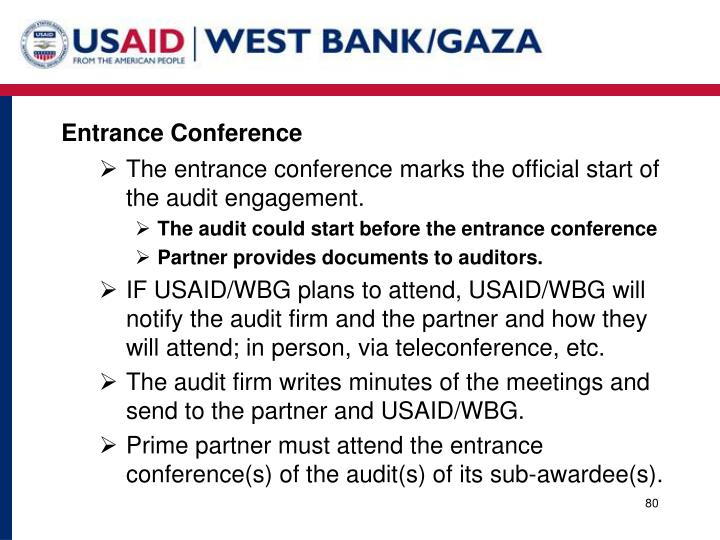 Entrance Conference
