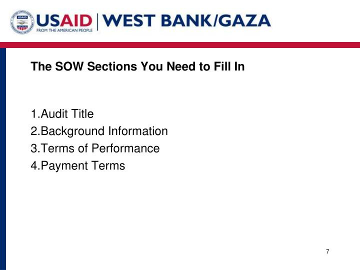 The SOW Sections You Need to Fill In