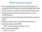 what is visual acuity