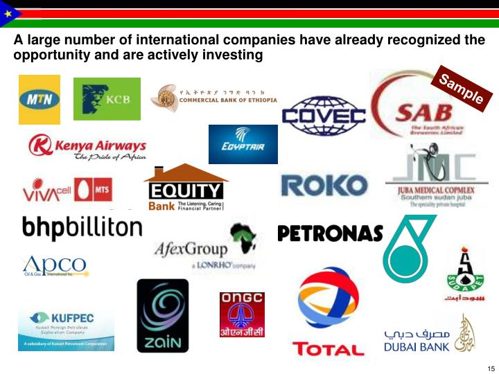 A large number of international companies have already recognized the opportunity and are actively investing