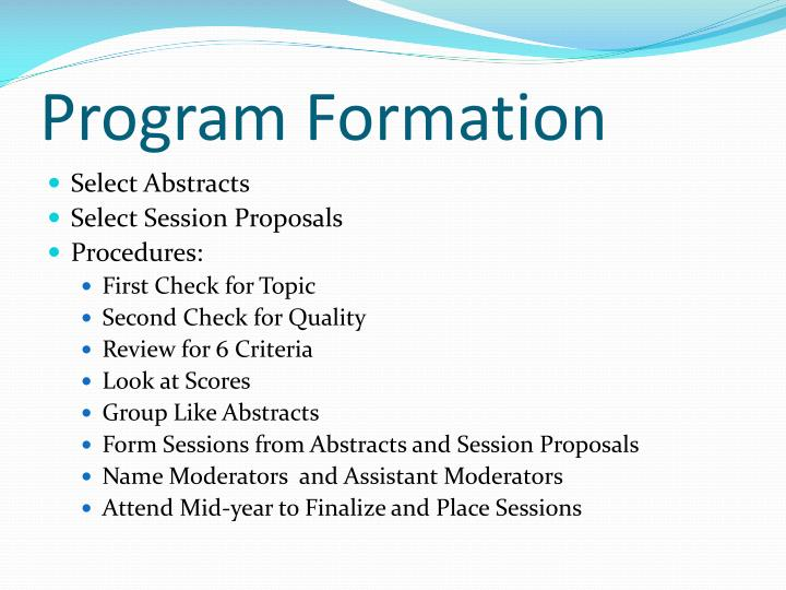 Program Formation