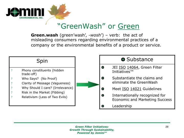"""""""GreenWash"""" or"""
