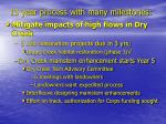 15 year process with many milestones