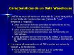 caracter sticas de un data warehouse