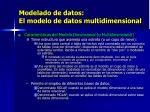 modelado de datos el modelo de datos multidimensional1