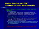 modelo de datos para dw el modelo de datos relacional ko