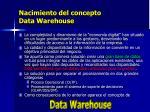 nacimiento del concepto data warehouse