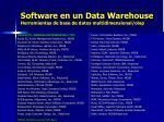 software en un data warehouse herramientas de base de datos multidimensional olap