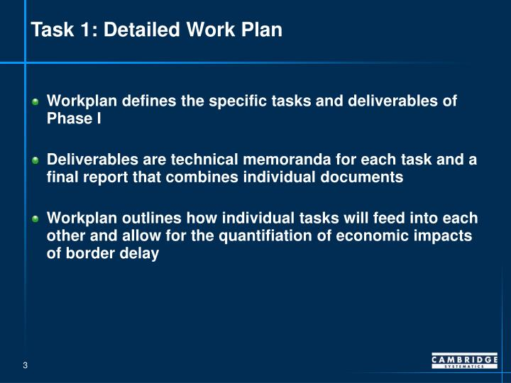 Task 1: Detailed Work Plan
