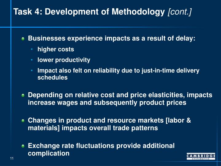 Task 4: Development of Methodology
