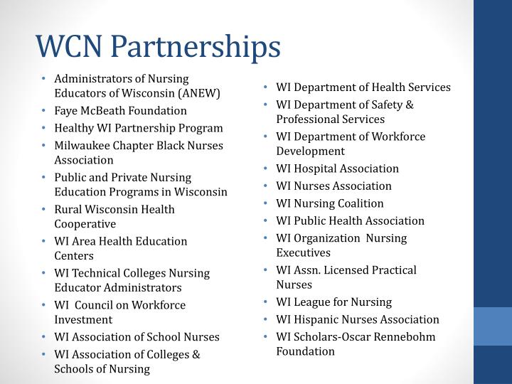 WCN Partnerships