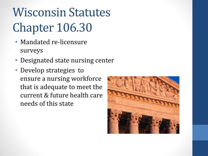 Wisconsin Statutes                                                                   Chapter 106.30