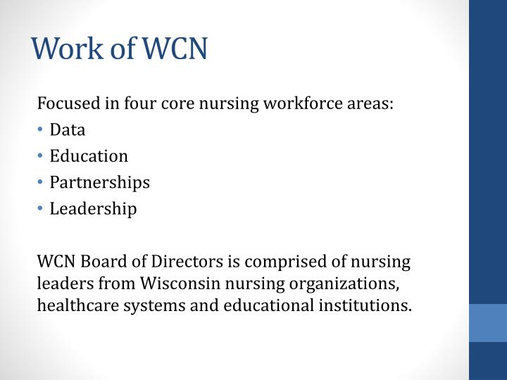 Work of WCN