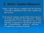 1 water borne diseases