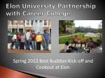 elon university partnership with career college