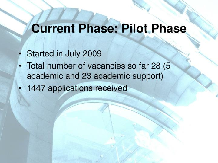 Current Phase: Pilot Phase