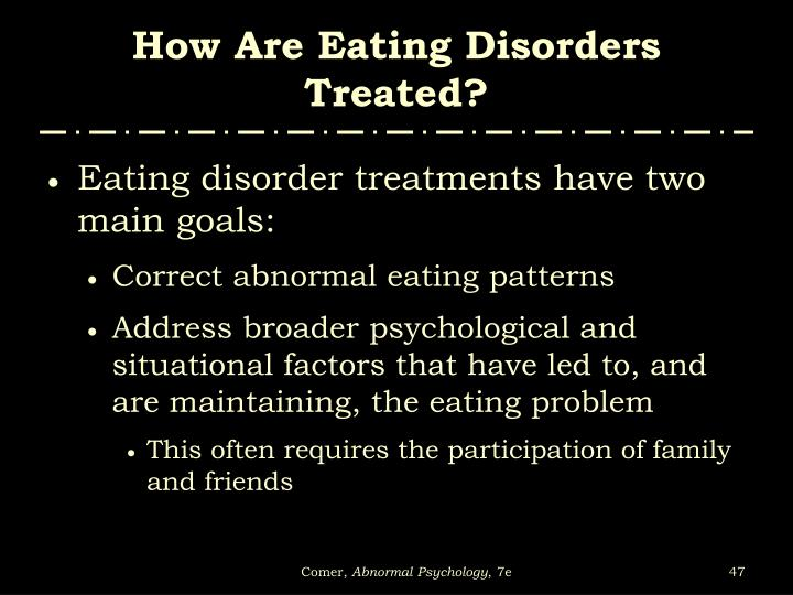 How Are Eating Disorders Treated?