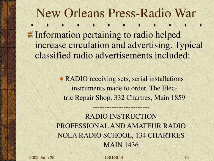 New Orleans Press-Radio War