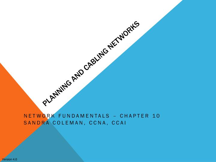 planning and cabling networks n.