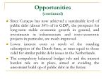 opportunities continued