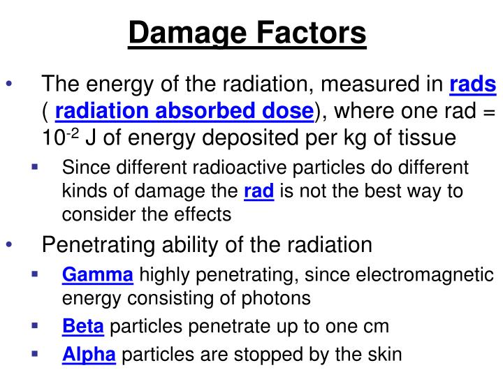 Damage Factors