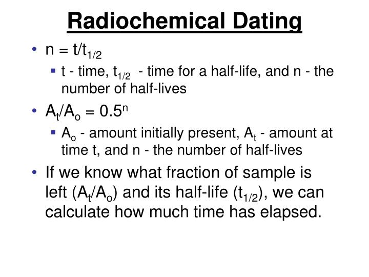 Radiochemical Dating