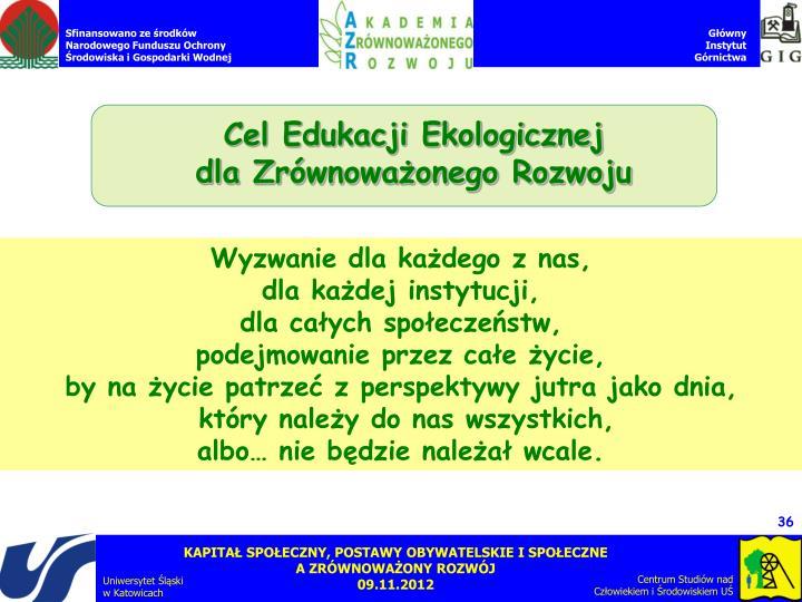 Cel Edukacji Ekologicznej