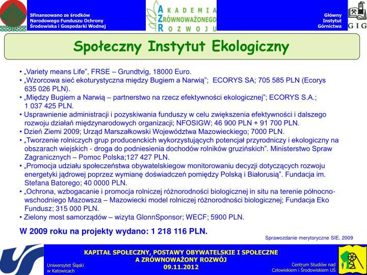 Społeczny Instytut Ekologiczny