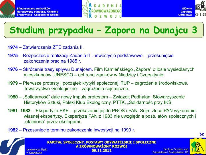 Studium przypadku – Zapora na Dunajcu 3