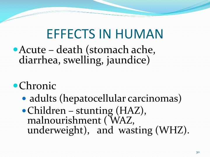 EFFECTS IN HUMAN
