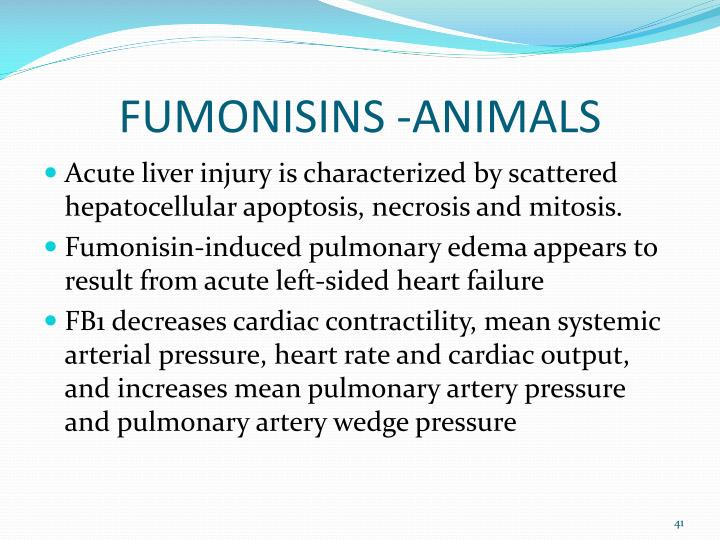 FUMONISINS -ANIMALS