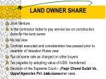 land owner share