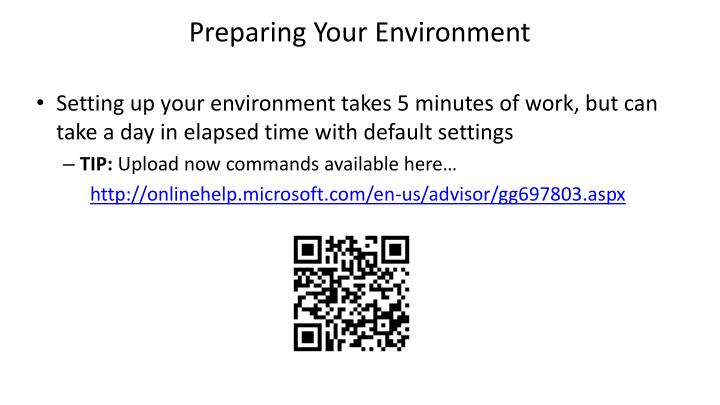 Preparing Your Environment