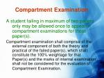 compartment examination
