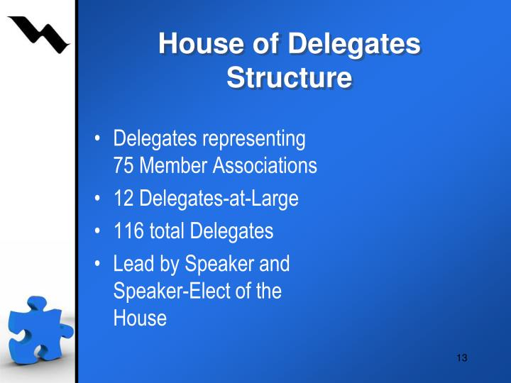 House of Delegates Structure