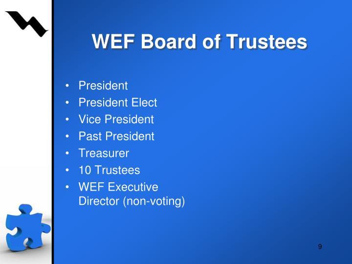 WEF Board of Trustees