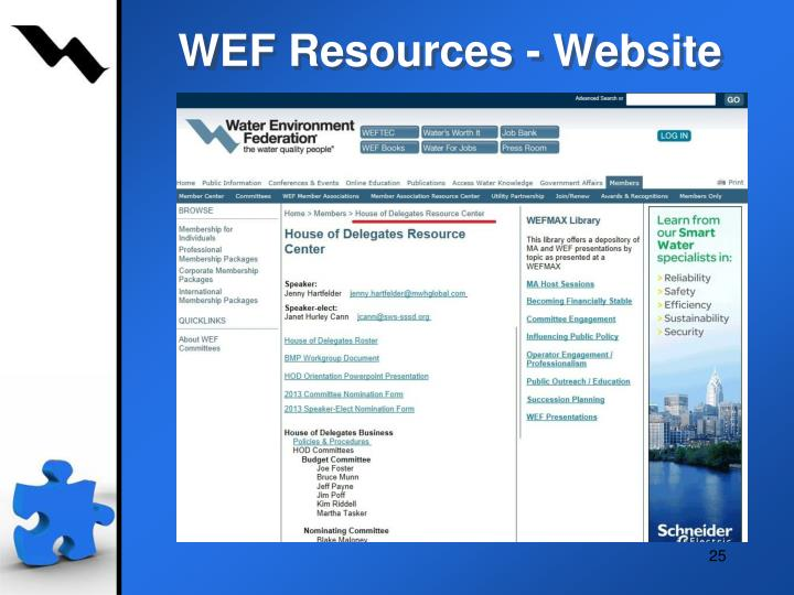 WEF Resources - Website