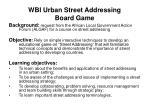 wbi urban street addressing board game