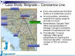 case study belgrade constantza line