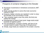 prospects of container shipping on the danube1