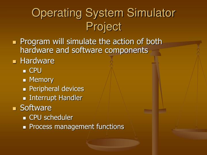 Operating system simulator project1