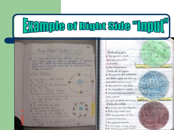 """Example of Right Side """"Input"""""""