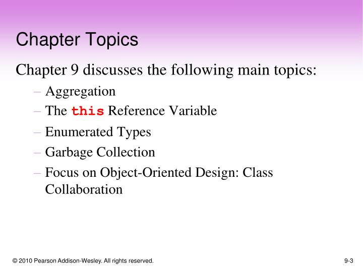 Chapter topics1