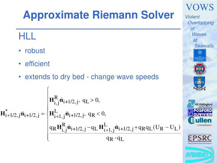 Approximate Riemann Solver