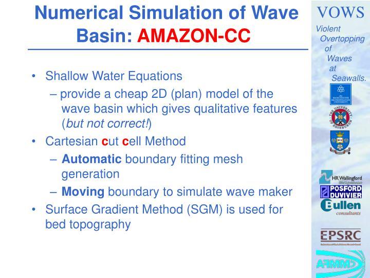 Numerical Simulation of Wave Basin: