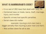 what is hammurabi s code