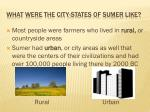 what were the city states of sumer like