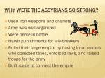 why were the assyrians so strong