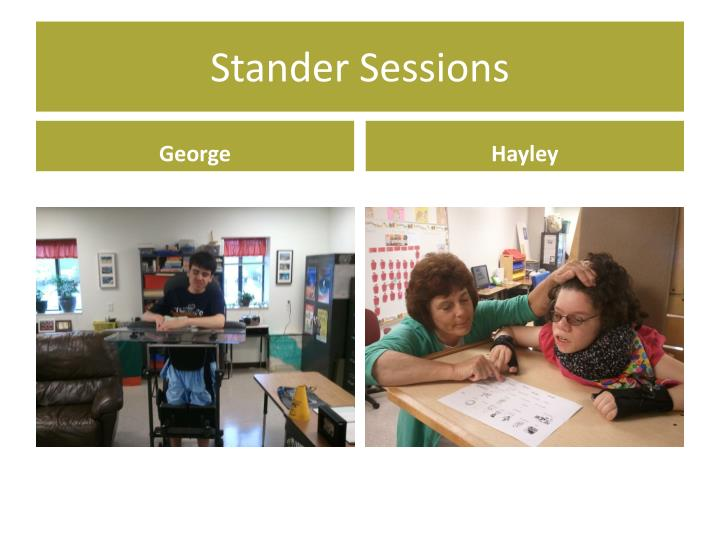 Stander Sessions
