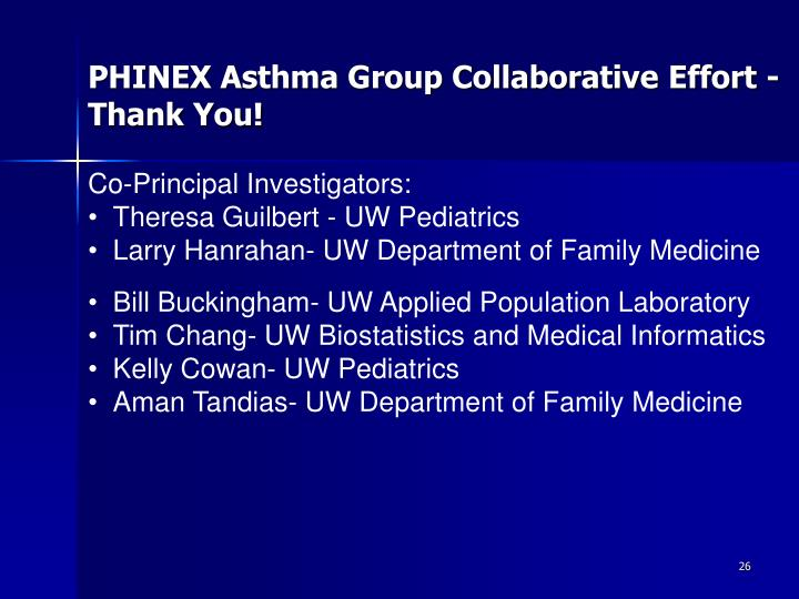 PHINEX Asthma Group Collaborative
